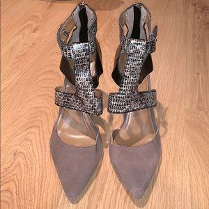 Dolce Vita Brown Suede Animal Print Heels